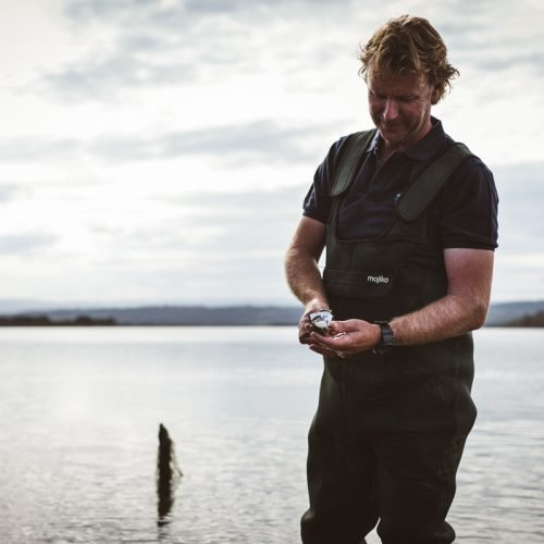 Melshell Oyster Shack Tasmania Freycinet Wading Farmer